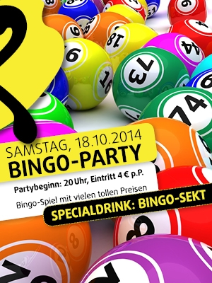 Bingo-Party am 18.10.14